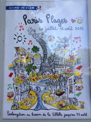 Paris Poster Beach on Seine