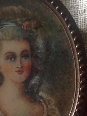 Painted Portrait Pin
