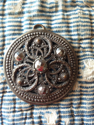 French Antique Silver Pendant