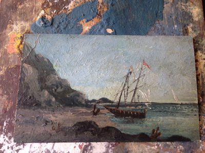 French Oil Painting With the Tide