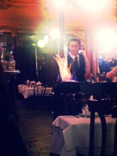 crepe suzette flambee