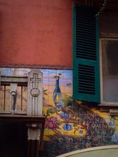 arcade tile mural in Savona italy