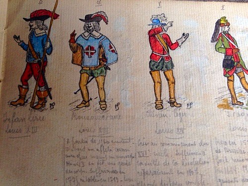 French 1900s, A Young Person's Art Book with Several Small Paintings