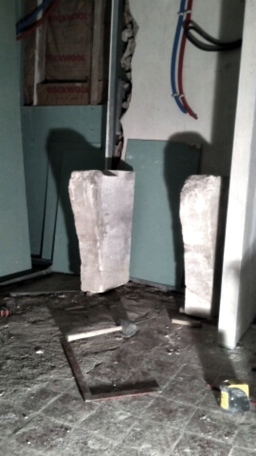 Stone jambage for sink