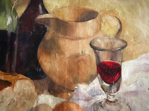 Provence painting, wine, brocante, colors of Provence, Corey Amaro