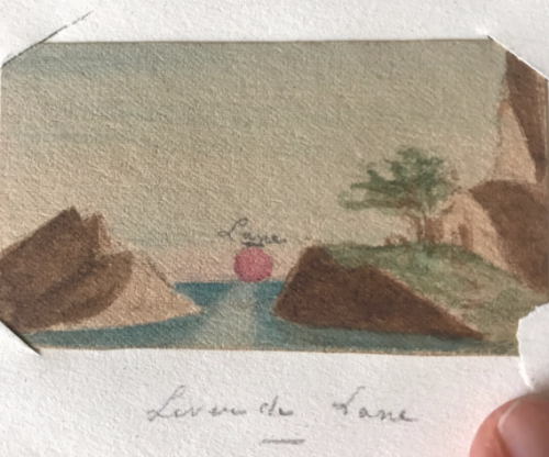 antique miniature watercolors