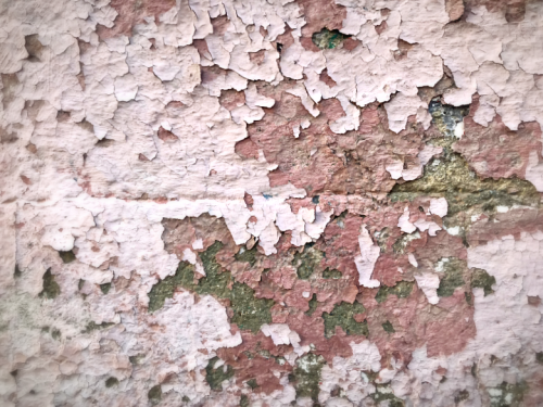 peeling wall artful look