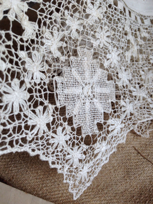 French Antique Large Lace