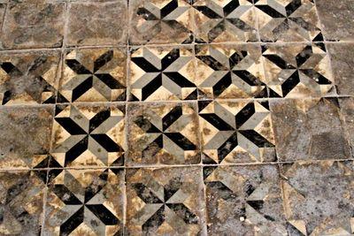 Antique tiles in the var, france