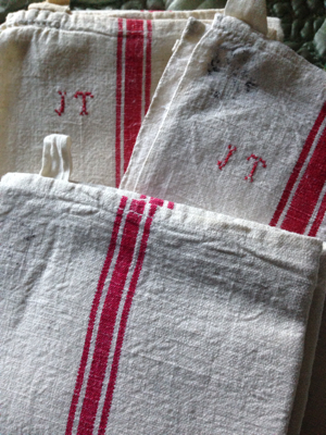 French Antique Dish Towels (3)