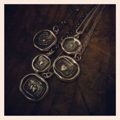 Plum and posey collection wax seal jewelry