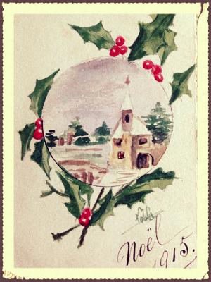 French Christmas Postcard