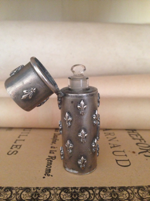 French Silver Perfume Case