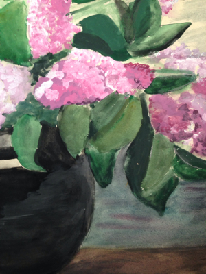 Lilacs in Vase Painting
