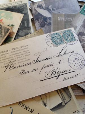 French Antique Valentine Postcard