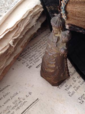 French Antique Prayer Pocket Relic