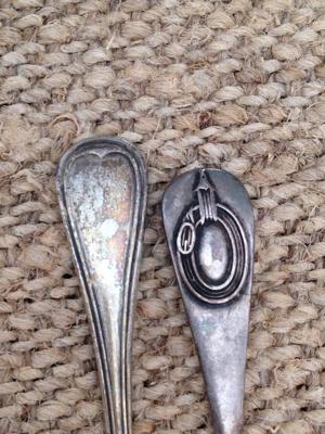 French Antique Salt Spoons