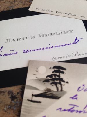 Varied French Antiques Calling Cards