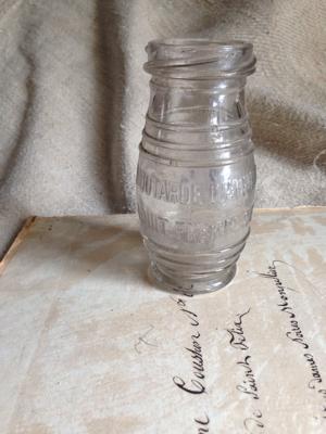 Pressed Glass Mustard Jar