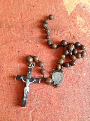 Wooden Rosary Fragment