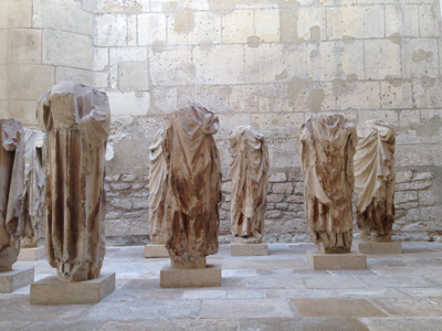 Statues in Cluny