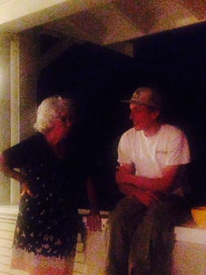 Late Night Conversation Between Grandmother and Grandson