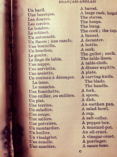 French words in a French Life