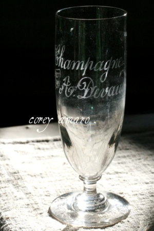 French souvenir Champagne glass