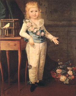 Louis XVI as a child