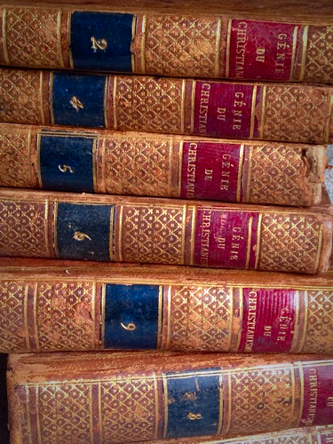 1800 French Leather Bound Books
