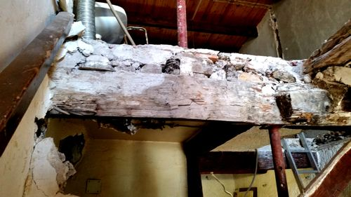 Renovating old beams French 1800s