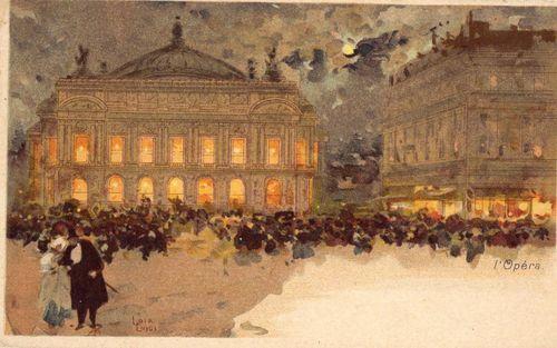 LUIGI LOIR carte illustrée Opéra de Paris