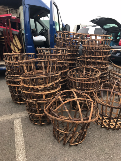 French Antique Lettuce Baskets