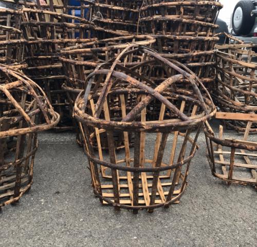 French Antique lettuce baskets