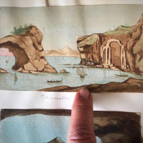 antique miniature watercolors