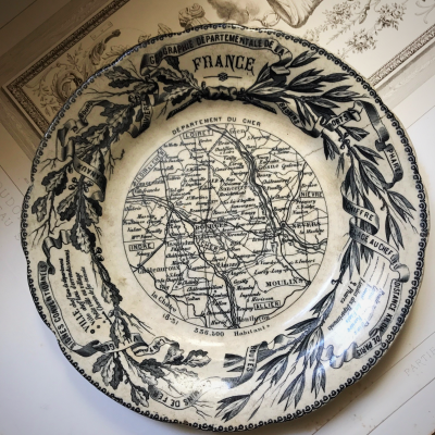 French antique plate