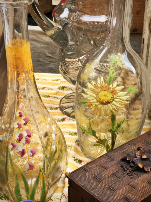 French brocante, corey amaro, living in France, French carafes