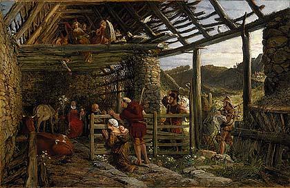 Nativity scene stable William Bell Scott