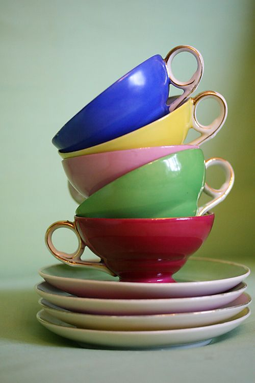 1940s French Tea Cups