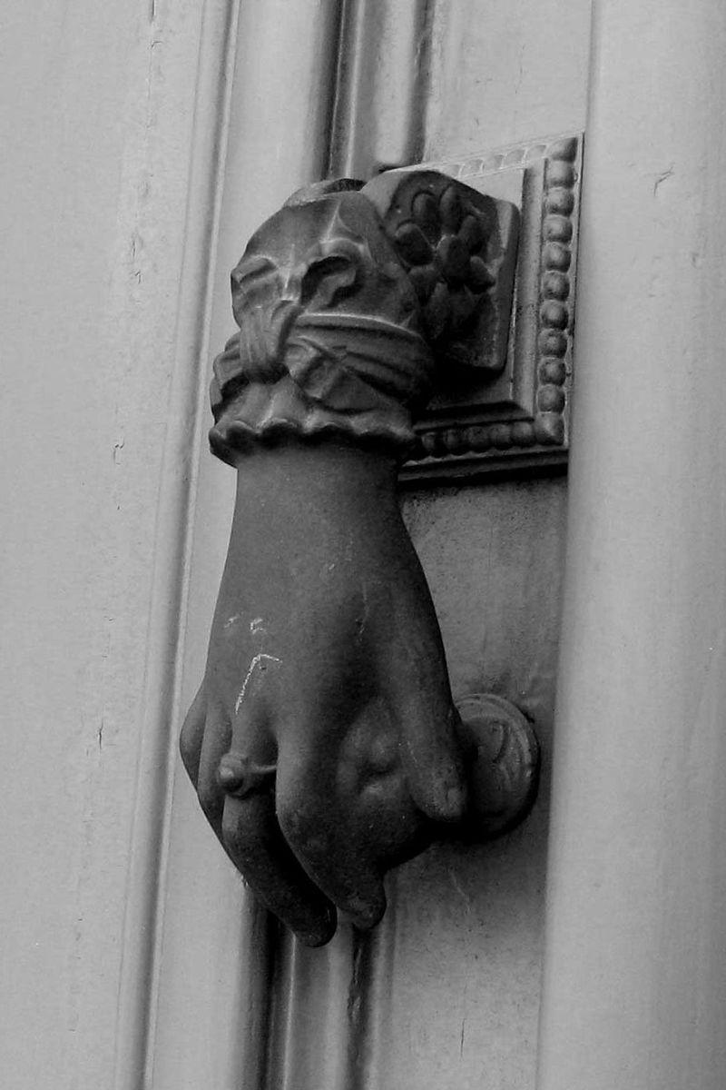 The Door Handle. Blackandwhitedoorhandle