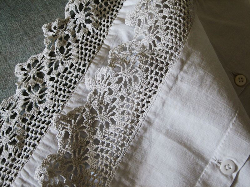 French La Vie French Antique Linen And Lace