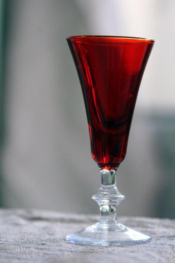 Antiquerosecoloredglass